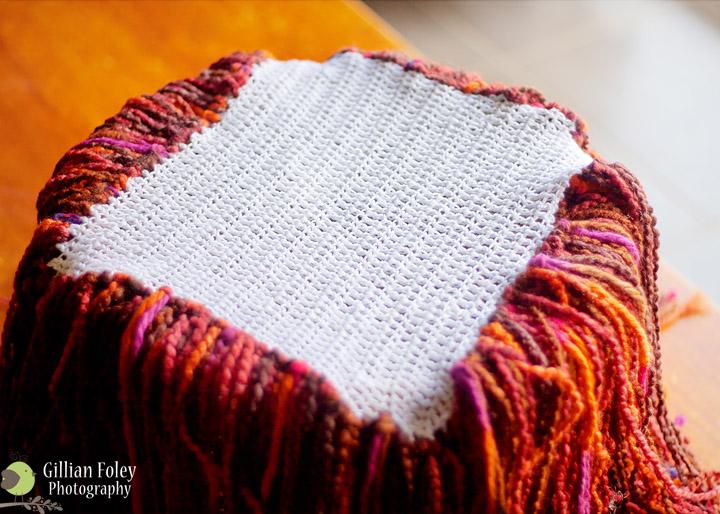 Make a fringe blanket prop | Gillian Foley Photography